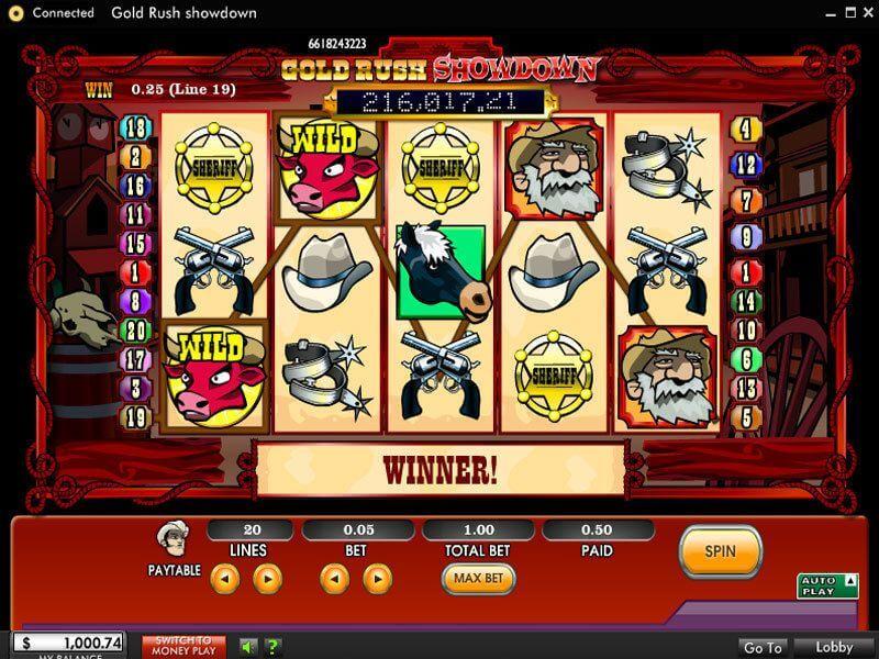 Gold Rush Showdown Slot Machine